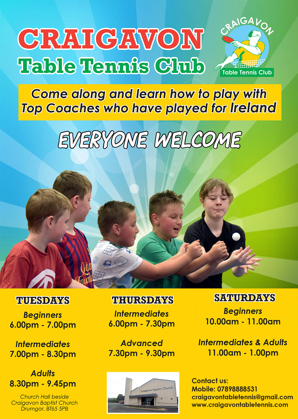 Table Tennis flyer Autumn