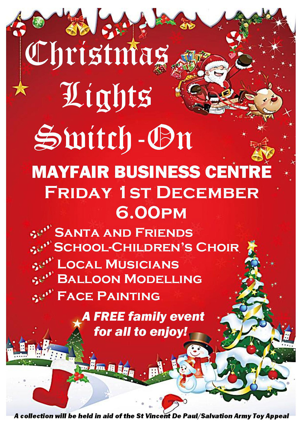 Christmas Lights Switch on Mayfair