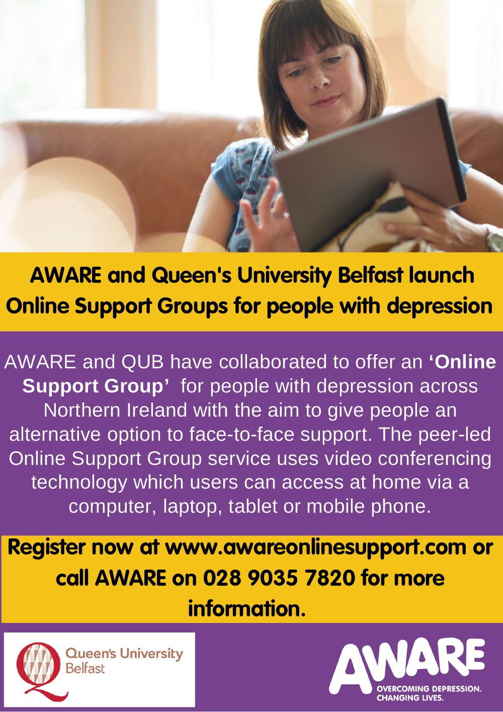Launch of Online Support Groups
