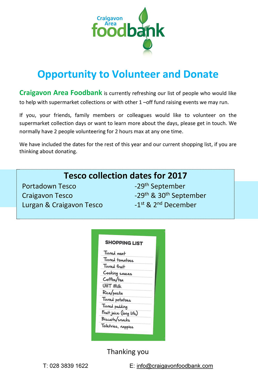 2017 100 supermarket collection support