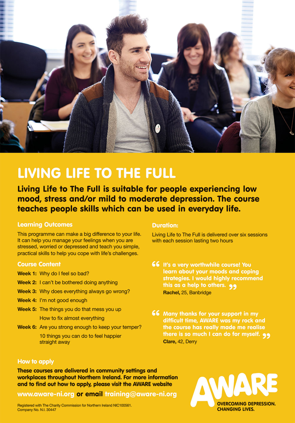 AWARE Living Life to The Full Information Sheet