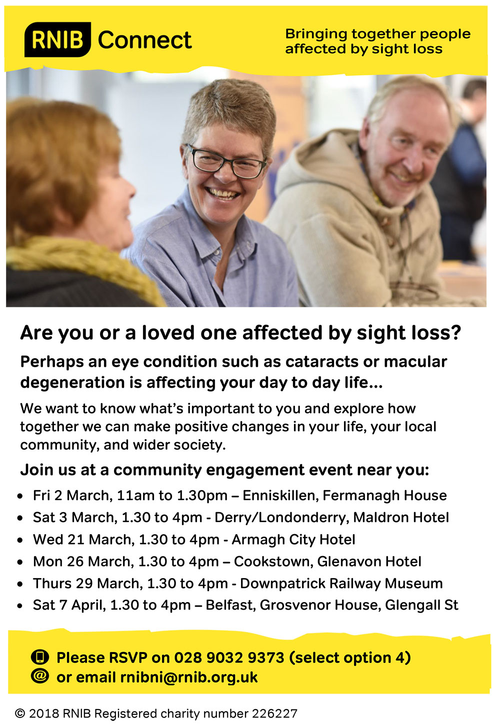 RNIB Community Engagement Events
