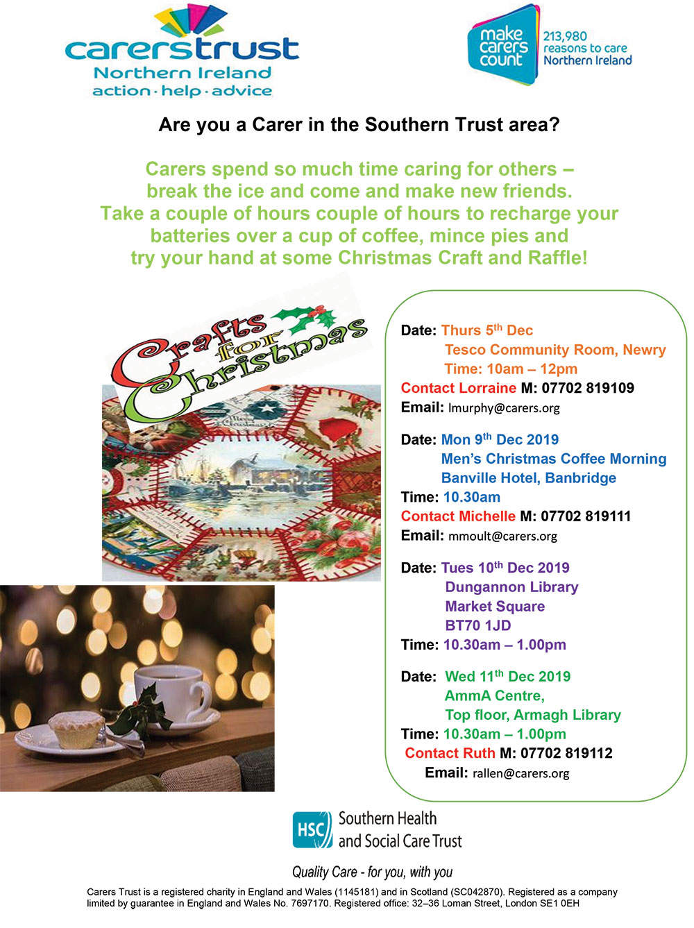 Carers Trust Christmas flyer 2019