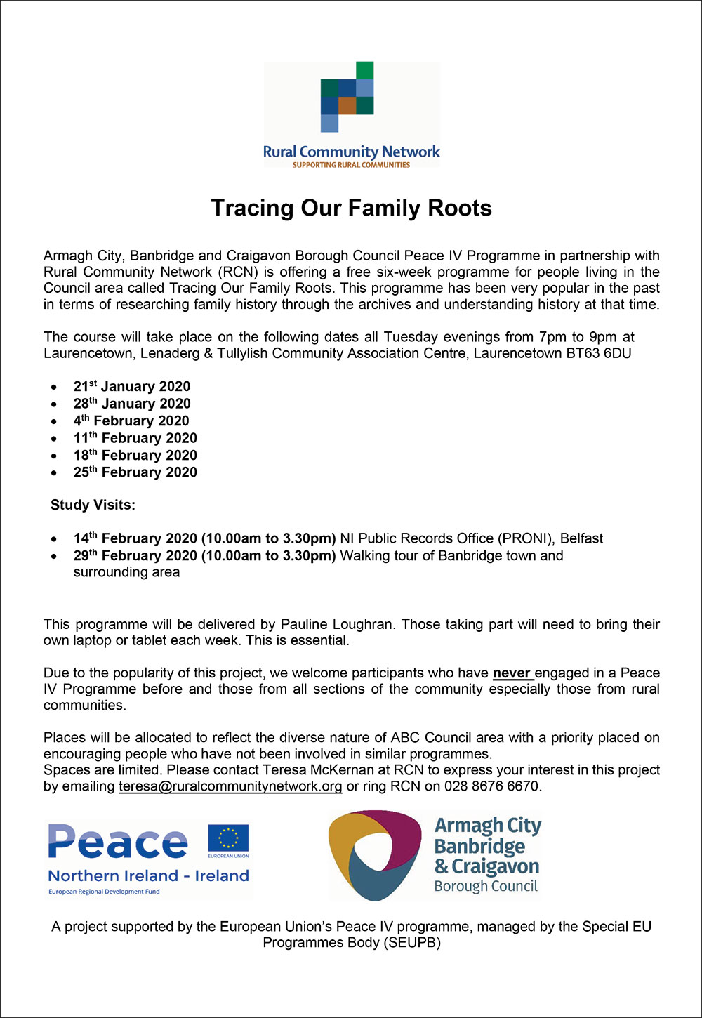 Tracing Our Family Roots January 2020 final