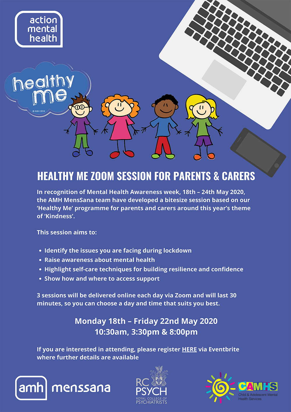 Healthy Me zoom session for Parents Carers