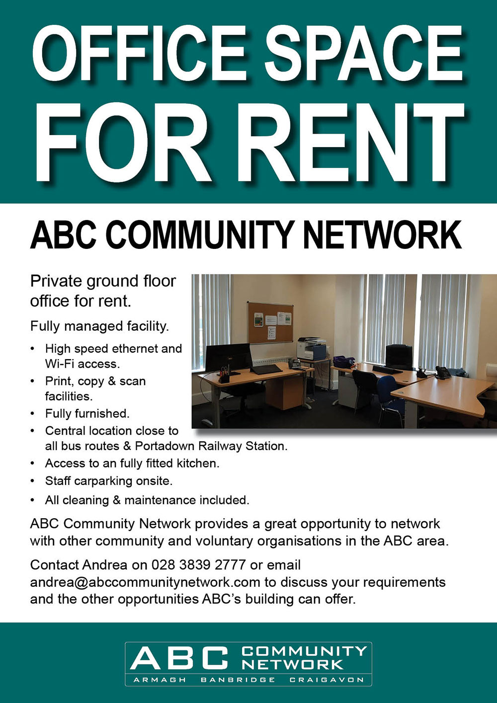 ABC Office space to rent